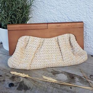 Vintage Clutch with wood handles